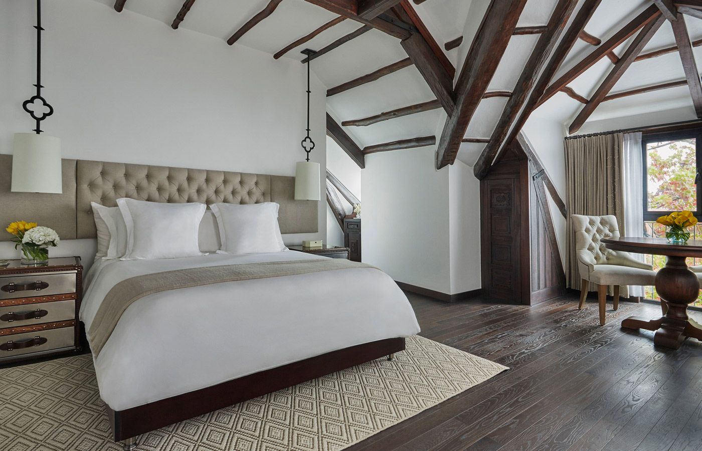 An elegant room at the Four Seasons Casa Medina, Bogota